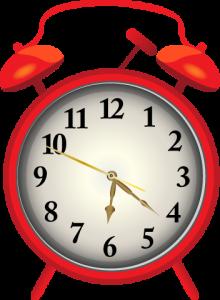 火葬時間を表す時計イメージ